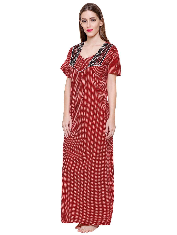 Secret Wish Women's Cotton Red Nighty