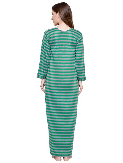 Secret Wish Women's Woolen Green Nighty