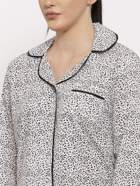 Secret Wish Women's Grey Cotton Printed Nightsuit