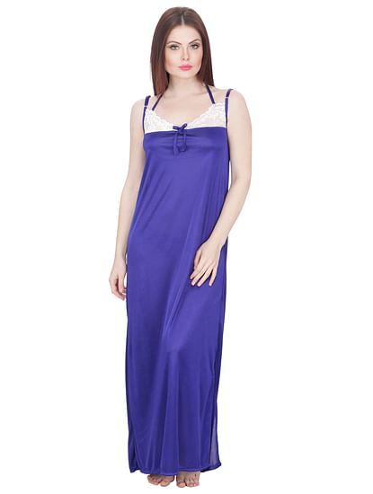 Secret Wish Women's Purple Maxi Nightdress with Robe