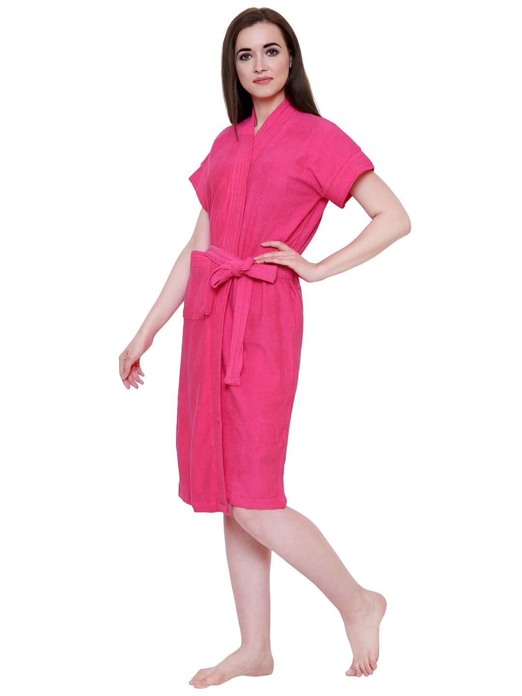 Secret Wish Women's Pink Towel Bathrobe