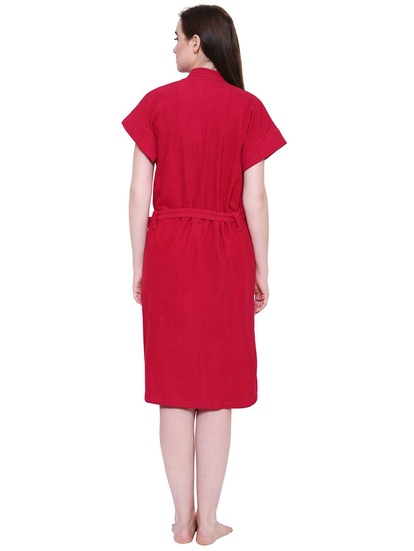 Secret Wish Women's Red Towel Bathrobe