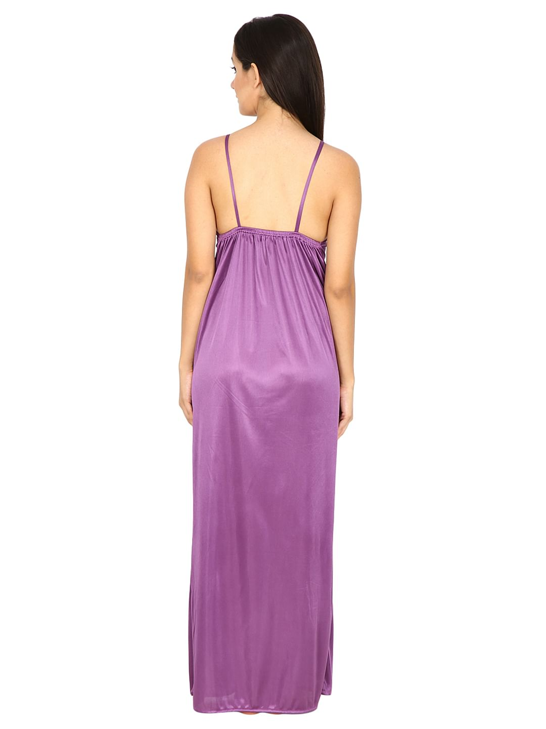 Secret Wish Women's Purple Maxi Nightdress with Robe